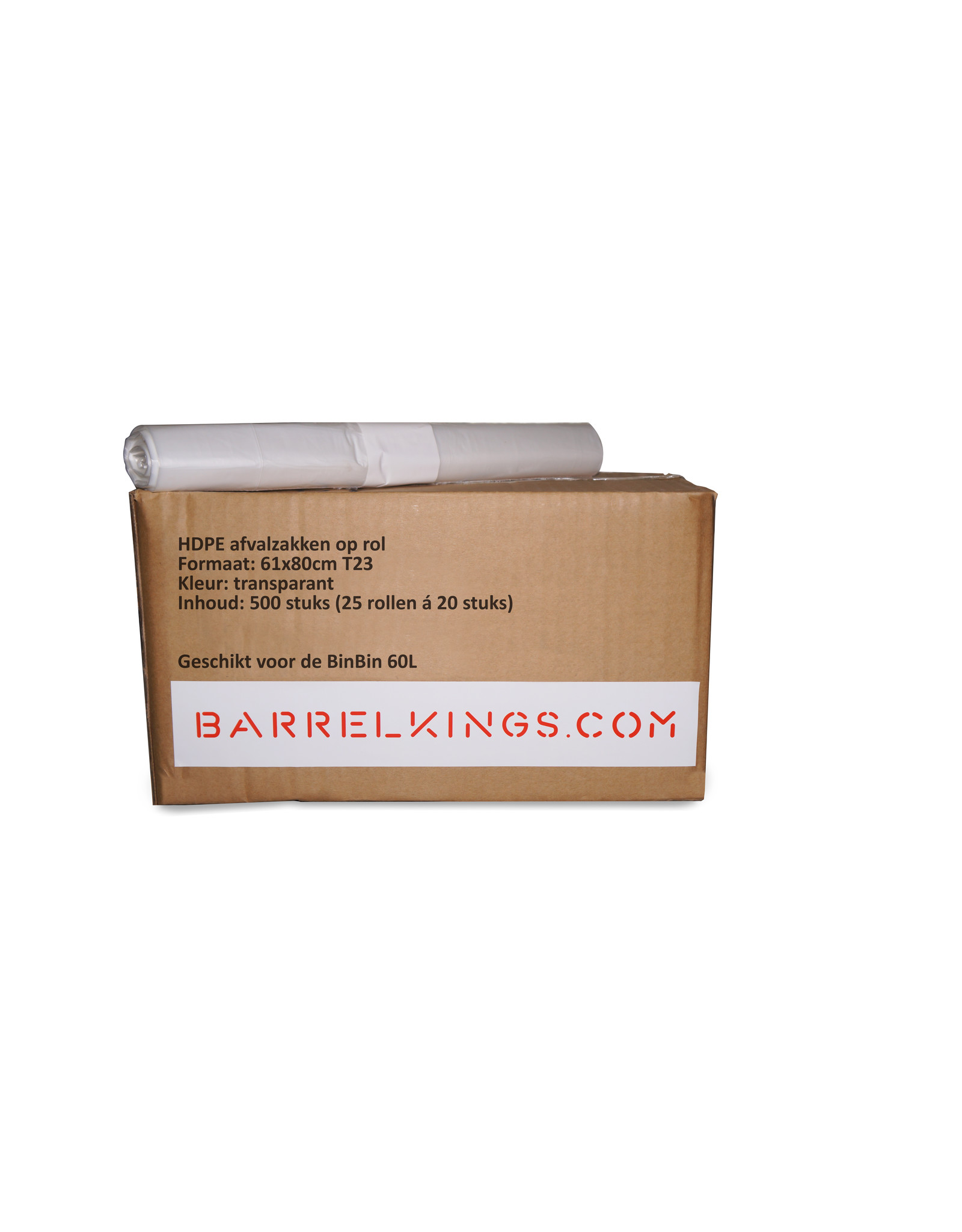 Barrelkings Afvalzak BinBin 60 L Transparant 500st.