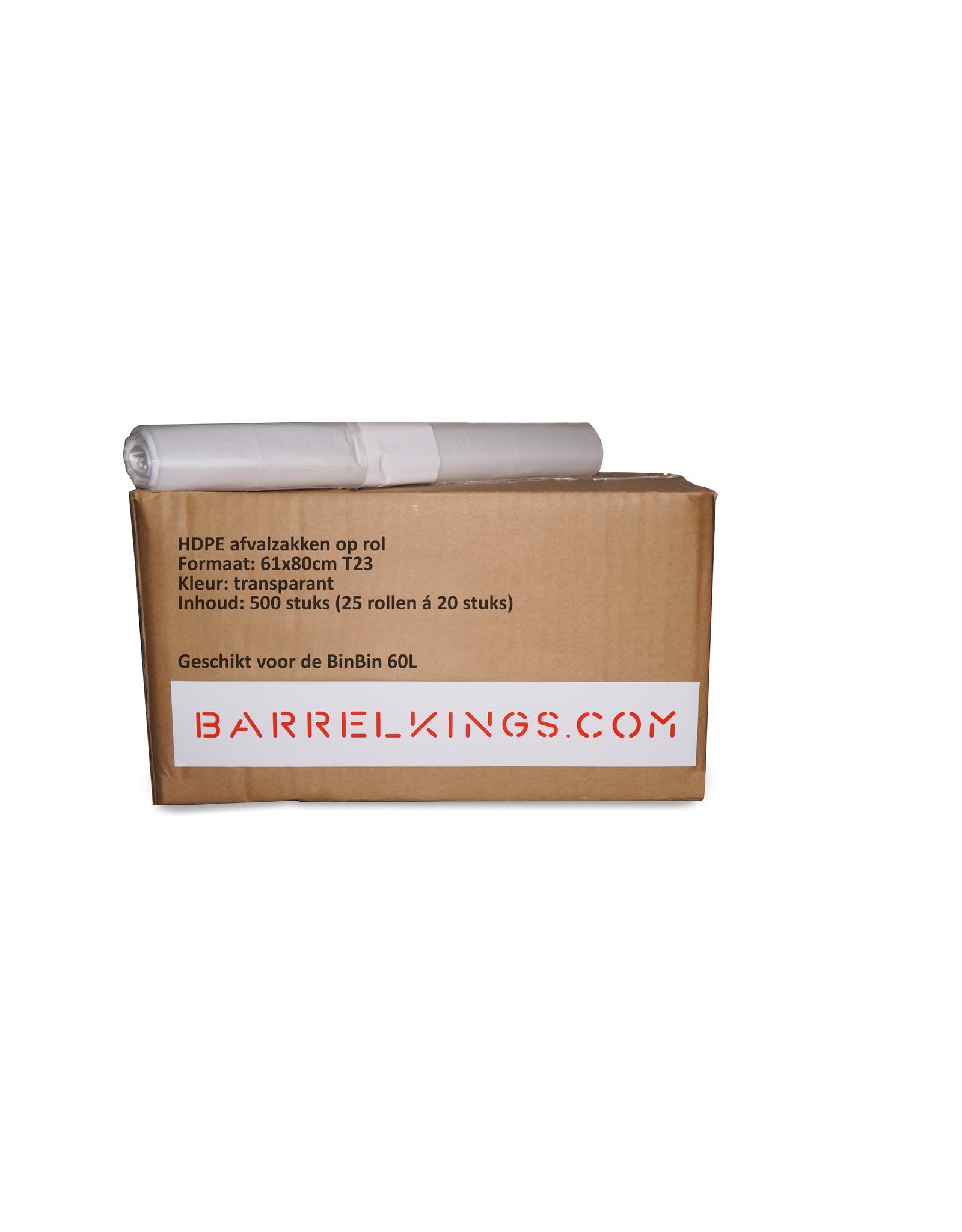 Barrelkings Afvalzak BinBin 60L Transparant 500st.