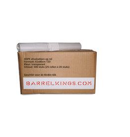 Barrelkings Afvalzak BinBin 60L Transparant 500 St.