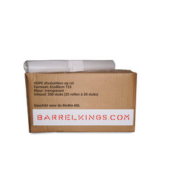 Barrelkings Garbage Bag BinBin 60 L Transparent 500 Pcs.