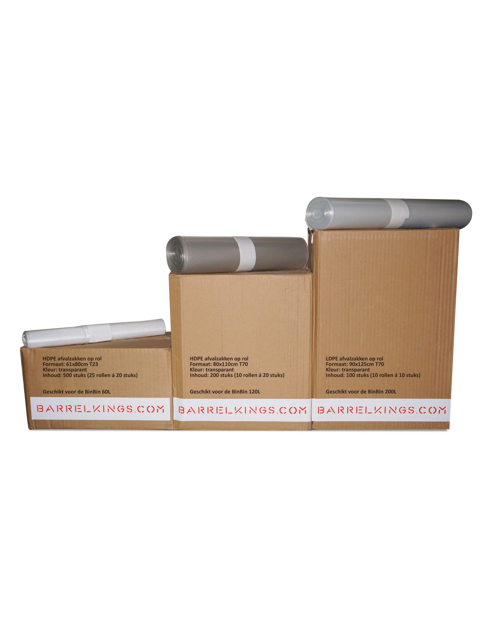 Barrelkings Afvalzak BinBin 200 L Transparant 100 St.