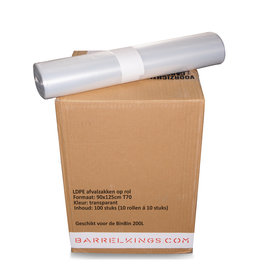 Barrelkings Afvalzak BinBin 200L Transparant 100 St.