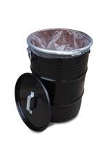 The Binbin BinBin Handle industriële prullenbak zwart 60 Liter met handvat