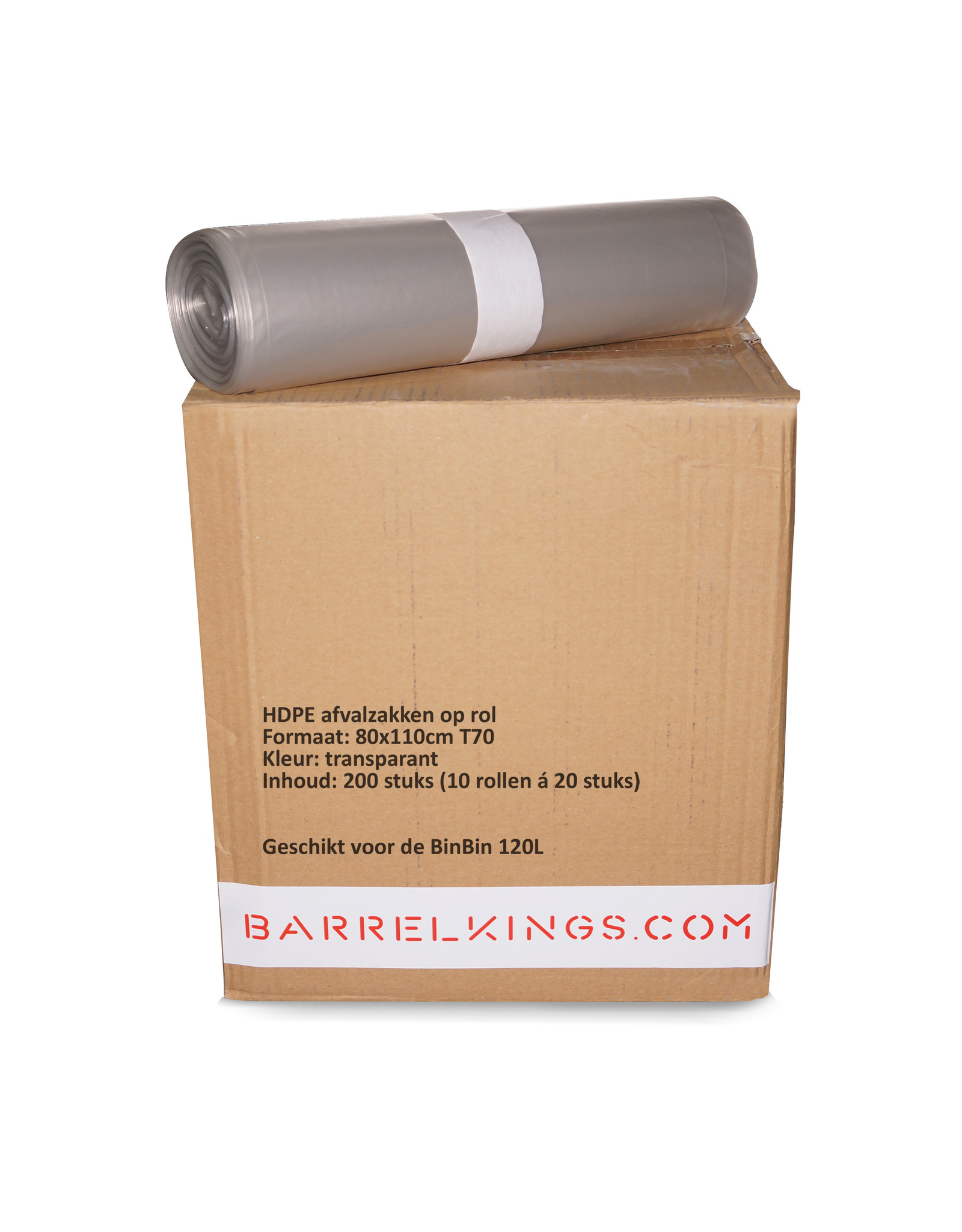 The Binbin BinBin Hole wastebin 120 Liter oildrum with hole lid