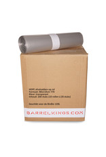Barrelkings  BinBin industrial rubbish bin black, 120L with flame-retardant lid