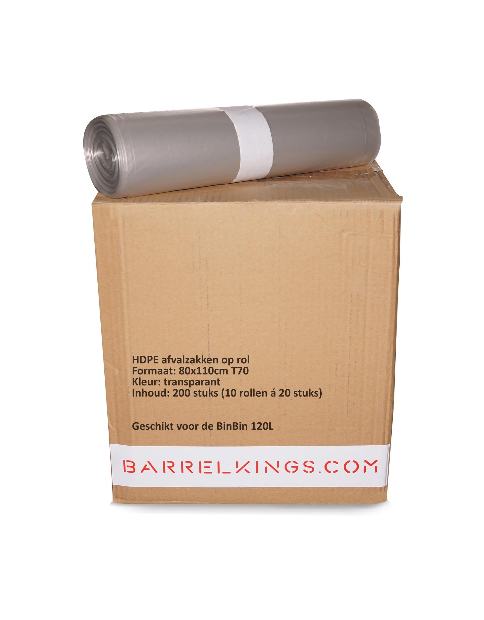 The Binbin BinBin Flame 120L Industriële prullenbak- olievat met vlamwerenddeksel