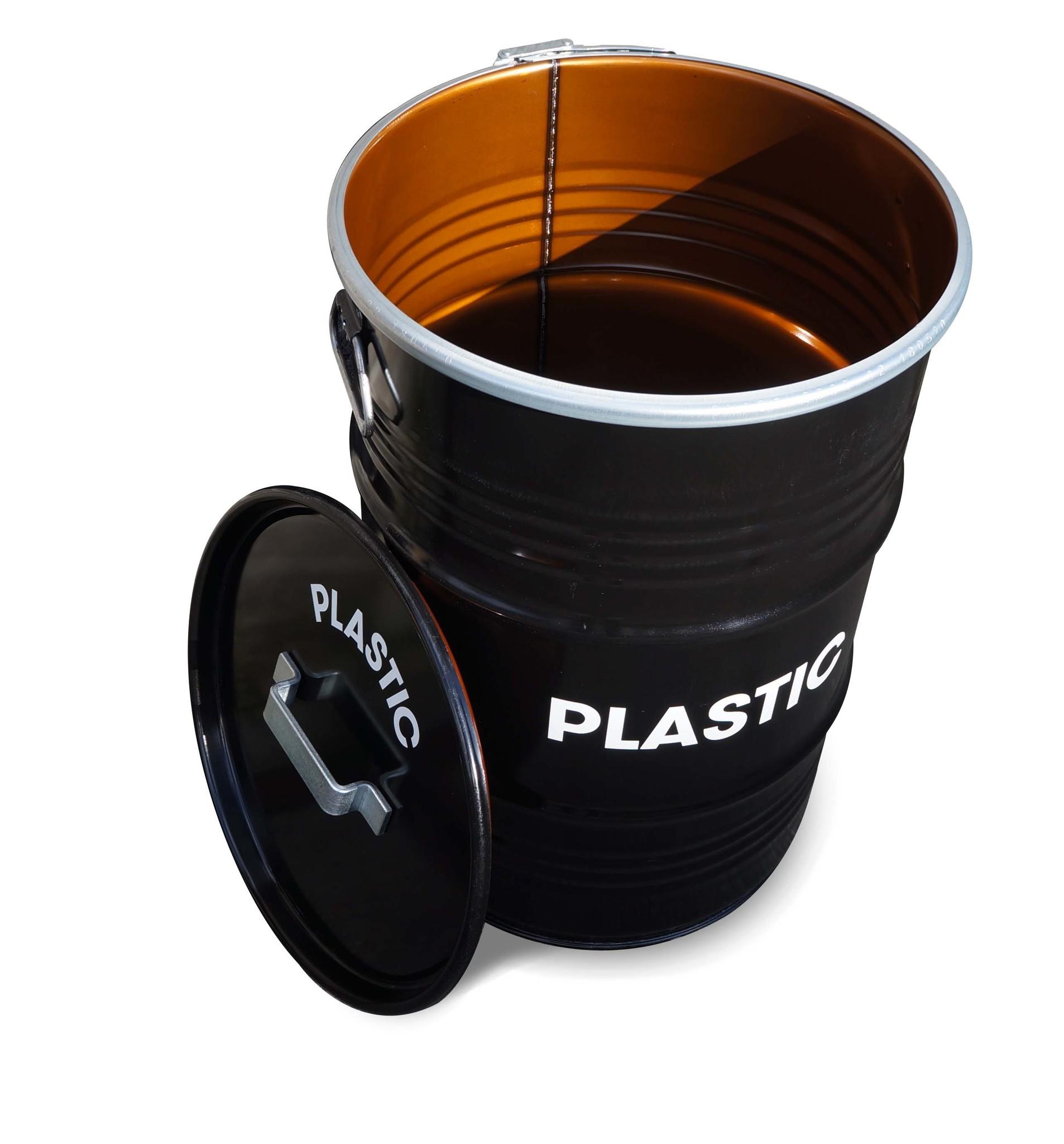 Barrelkings BinBin Handle Plastic Industrile prullenbak afvalscheiding 60L olievat