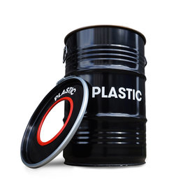 BinBin BinBin Hole Plastic- industrieller Mülleimer 60 Liter- Ölfass schwarz