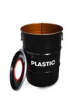 The Binbin BinBin Hole Plastic industrial trash can waste separation 60 Liter