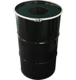 BinBin BinBin Hole Industriële prullenbak zwart 120 Liter met gat in deksel