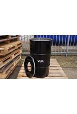 The Binbin BinBin Hole Vuil industriële prullenbak 120 Liter met gat deksel