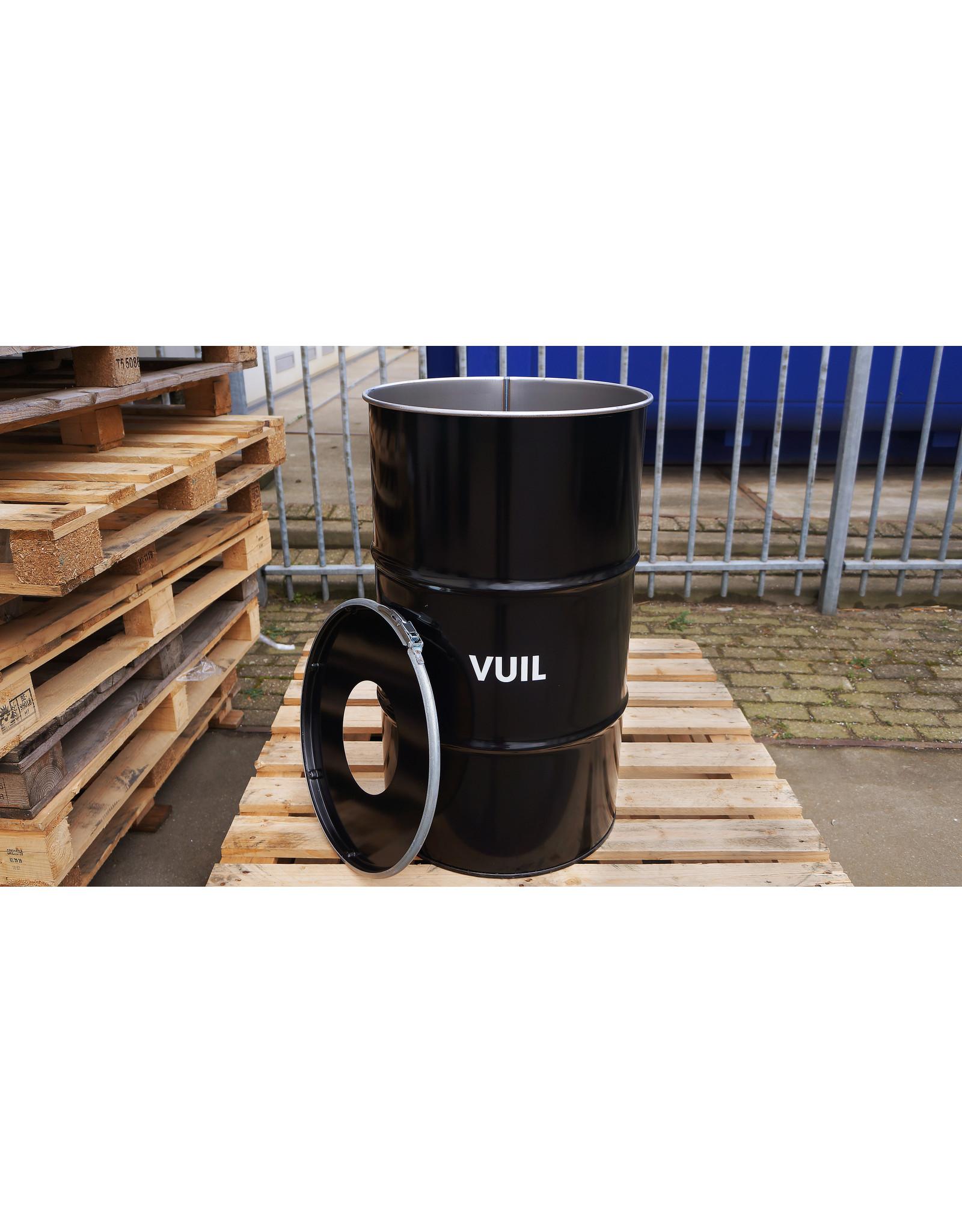The Binbin BinBin Hole Vuil industrieller Mülleimer Abfalltrennung 120 Liter mit loch deckel