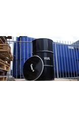 The Binbin BinBin Handle Vuil industriële prullenbak 120 Liter met gat deksel