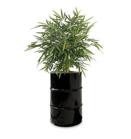 Barrelkings Barrel planter, Flowerbox 60 Liter metal oildrum