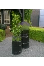 Barrelkings Blumenkübel  industriell 200 Liter Ölfass Mörtelwanne