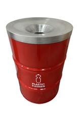 Barrelkings BinBin Flame Red 200L Plastic Bottle Collection Trash Can