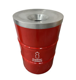 Barrelkings BinBin Flame 200 L plastic flessen  prullenbak