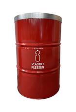 Barrelkings BinBin Flame Red 200L plastic flessen inzamel prullenbak