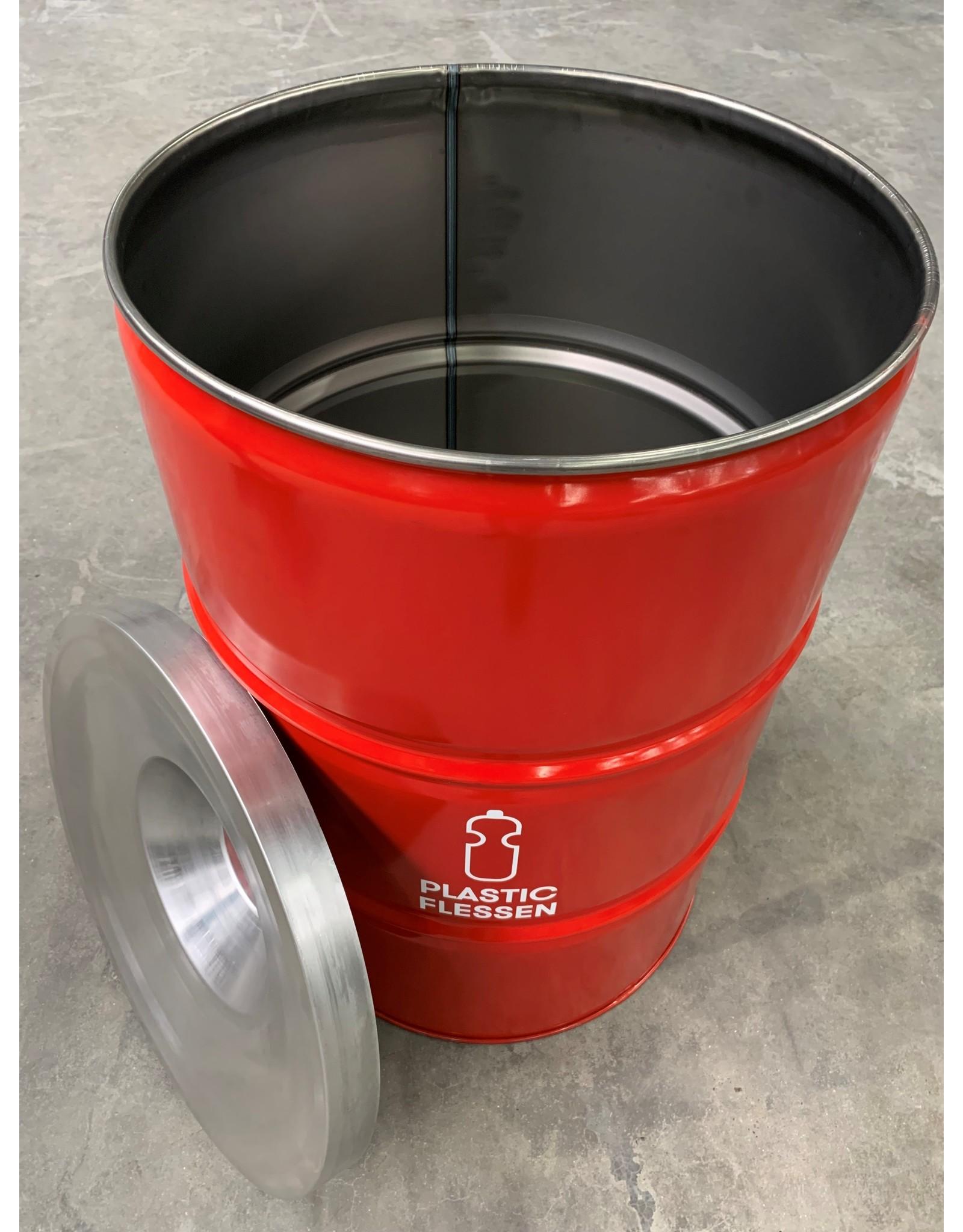 Barrelkings BinBin Flame Red 200L Plastikflaschensammlung Mülleimer