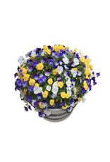 Barrelkings Blumenkübel industriell 120 Liter Ölfass Mörtelwanne