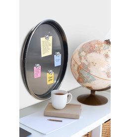 Barrelkings industrieel zwart magneetbord-  metaal- 58 CM zwart.