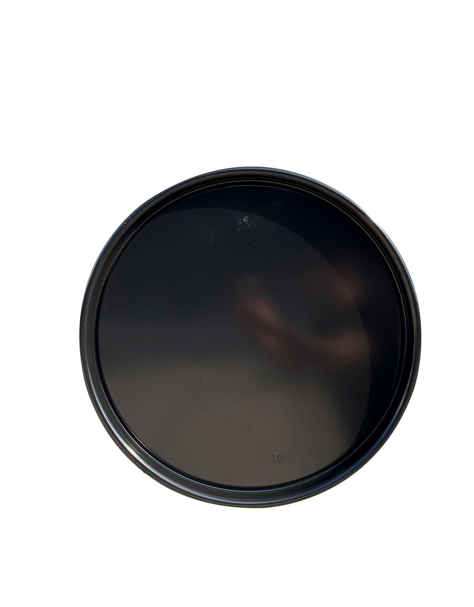 Barrelkings Industrieölfassdeckel Magnettafel- schwarzes Metall- 58 CM