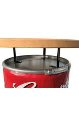 Barrelkings Campbell's soup statafel- bartafel- hangtafel met houtenblad.