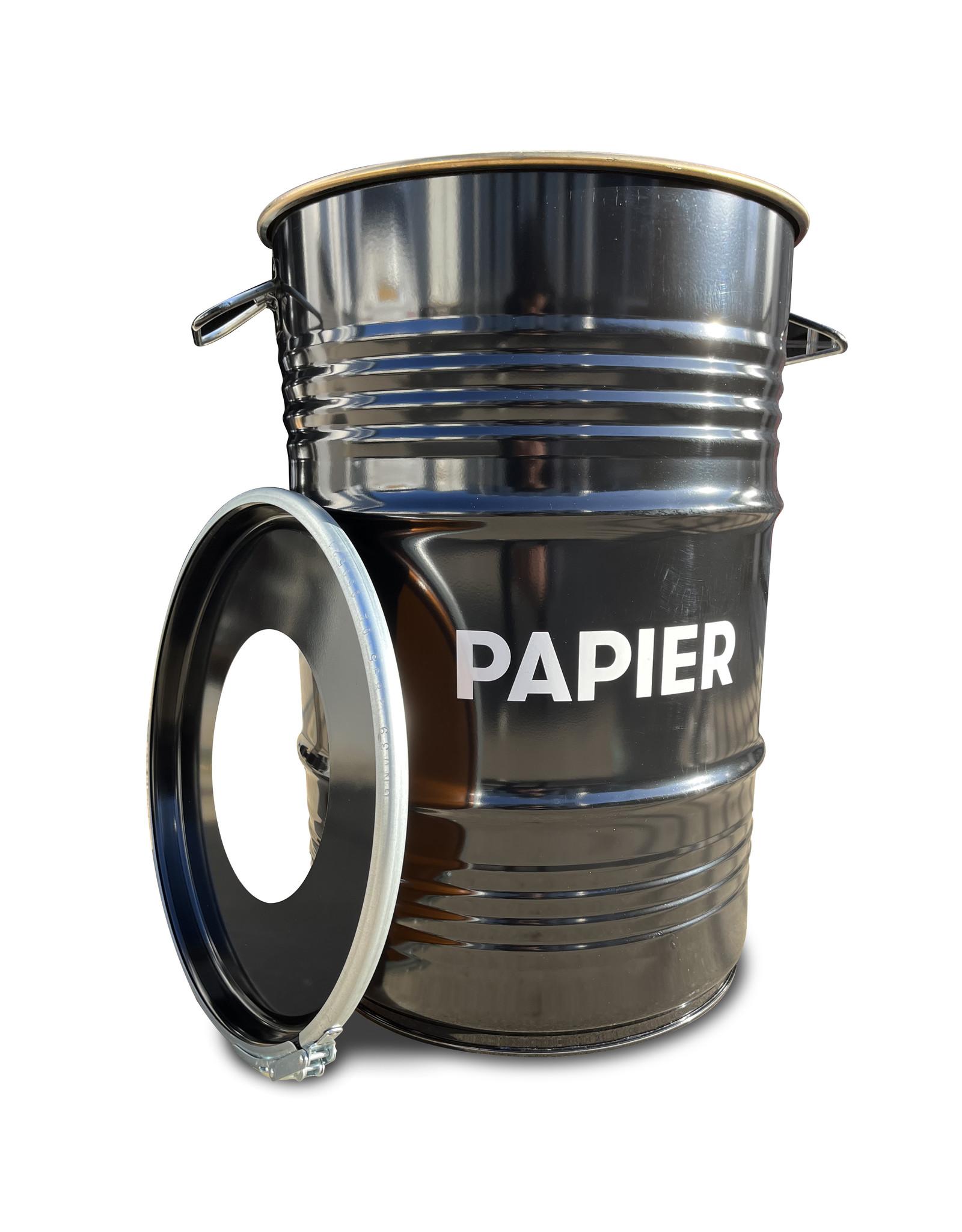 Barrelkings BinBin papier Industrielles Ölfass Papierbehälter Mülleimer