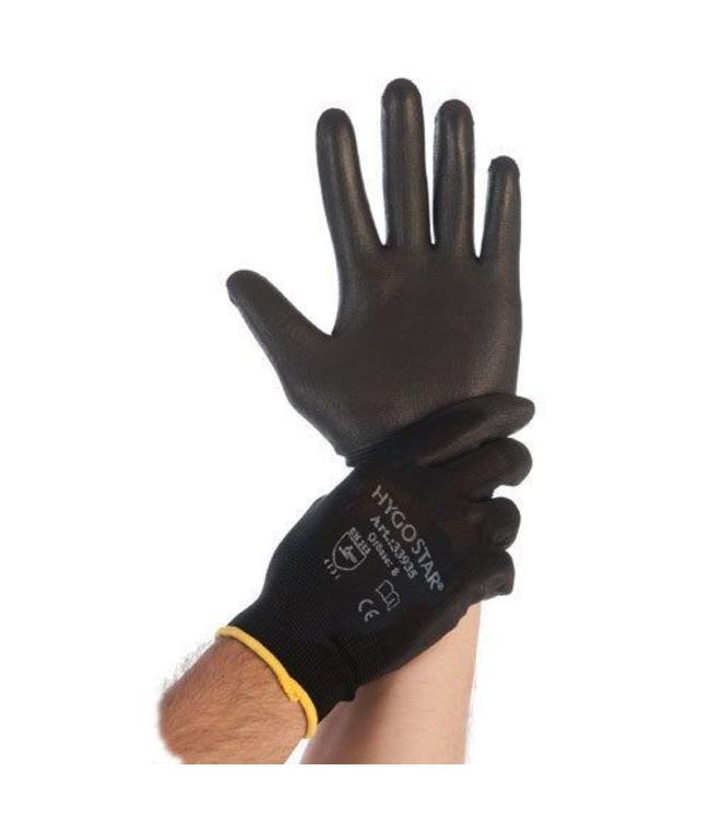 Hygostar - Nylon fijn gebreide handschoen met PU coating - DOTTY