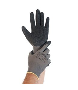 Hygostar Handschoen nylon fijn gebreid met latex coating - SKILL