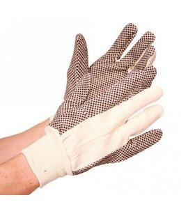 Hygostar Katoenen handschoen met zwarte PVC noppen - DOTTY