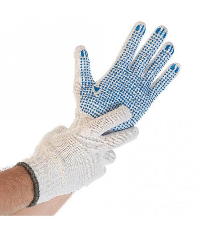 Hygostar - Katoenen handschoen met PVC noppen - STRUCTA