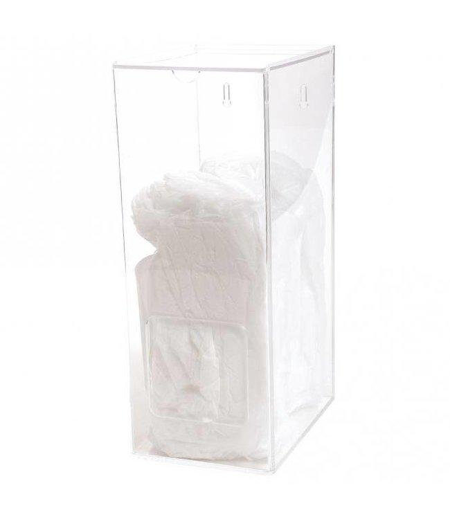 Hygostar - dispenser acrylglas voor caps, mutsen bescherm mouwen en overschoenen - SAGAR