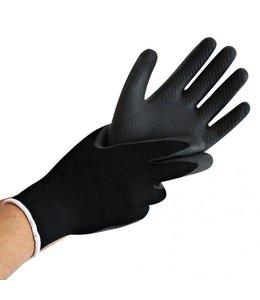 Hygostar Handschoen fijngebreide polyester ultra grip met latex coating - FELTA