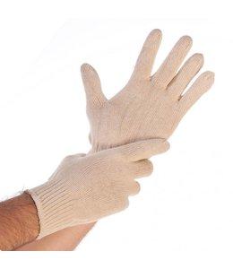 Hygostar Katoenen gebreide handschoenen natuur - YOURK