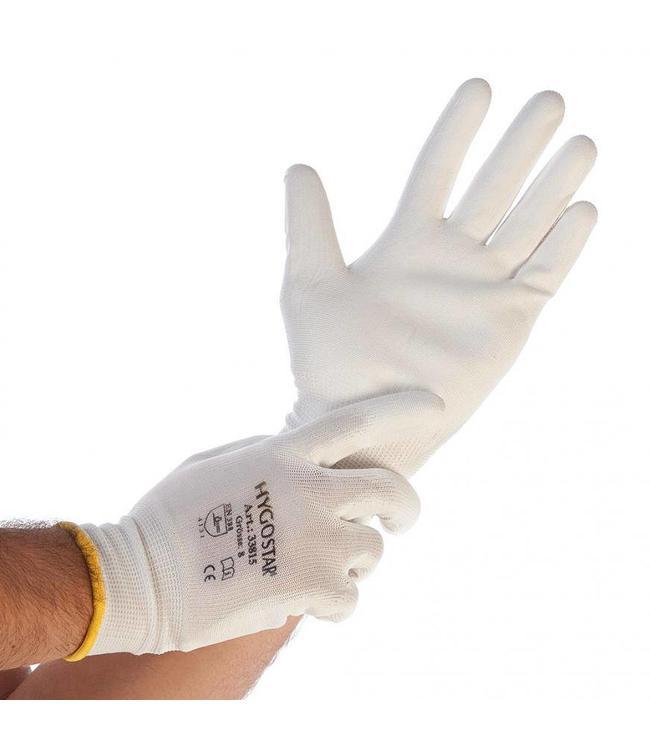 Hygostar - Fijn gebreide nylon handschoen met PU-coating ULTRA FLEX - RAIKO
