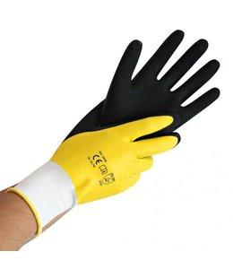 Hygostar Fijngebreide polyester handschoenen WET PROTECT met latexcoating - WET PROTECT