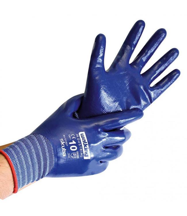 Hygostar - Nylon fijn gebreide handschoenen met nitril coating - SKUBA
