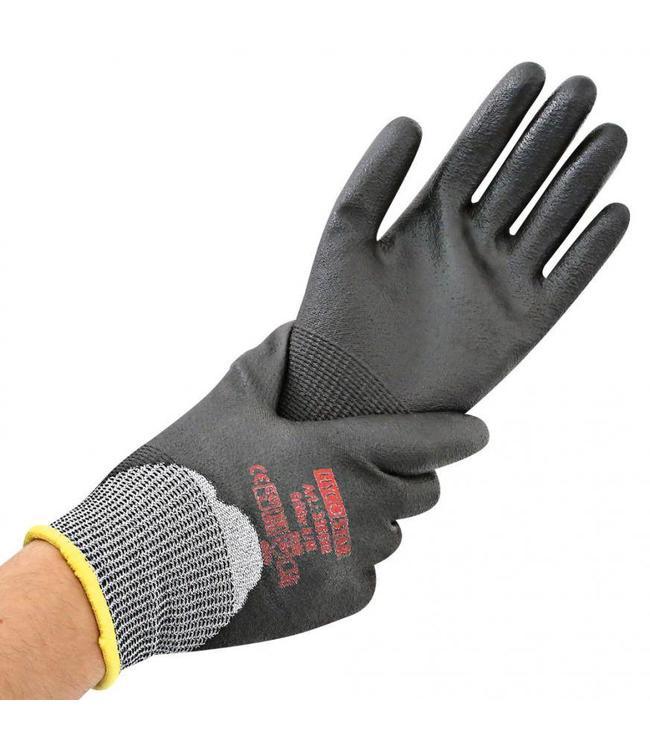 Hygostar - Snij beschermings handschoen met 3/4 PU coating - FERN