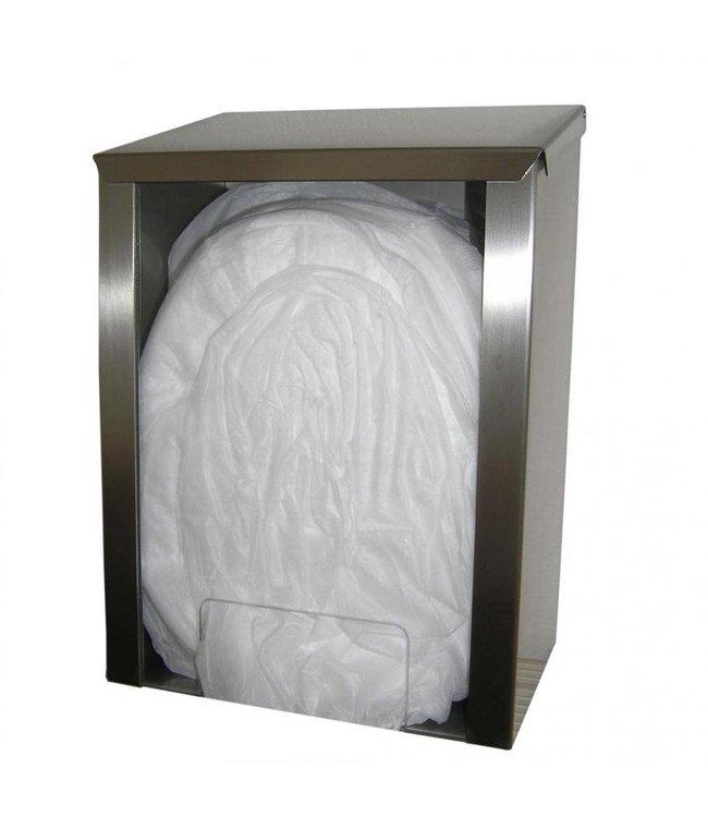 Hygostar - Dispenser van rvs voor caps, bescherm mouwen en overschoenen - VERMONT