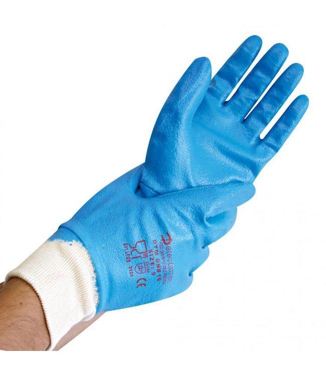 Hygostar - Detecteerbare werkhandschoenen NITRIL DETECT, 4/4 gecoat - TONK