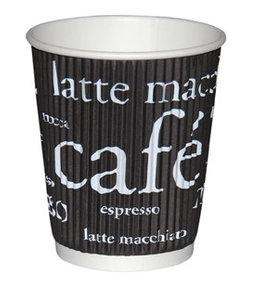 Hygostar Koffiemok van karton  3-wandig - WAVE