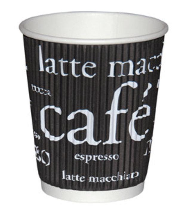 Hygostar - Koffiemok van karton  3-wandig - WAVE