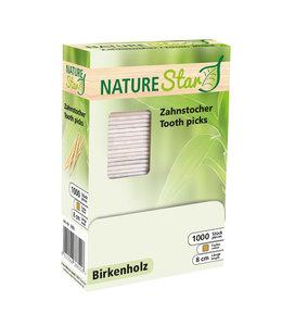 NatureStar Tandenstoker in dispenserdoos Berkenhout - LANI