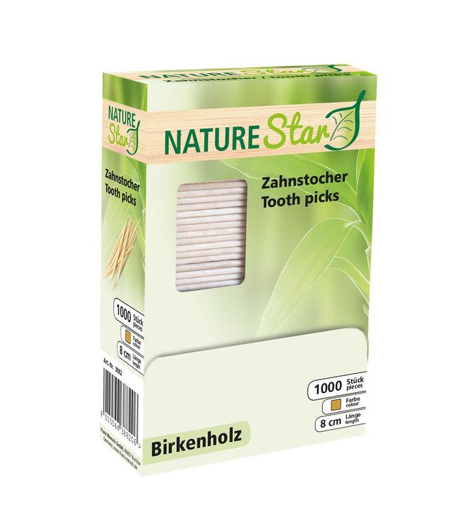 NatureStar - Tandenstoker in dispenserdoos Berkenhout - LANI