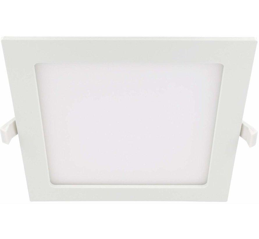LED Einbaustrahler flach eckig - 6W - Downlight square - 230V - Einbau Durchmesser 100x100mm