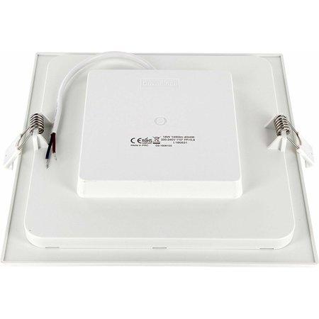 LED Einbaustrahler flach eckig - 12W - Downlight square - 230V - Einbau Durchmesser 150x150mm