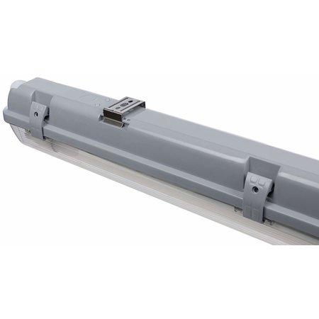 LED T8 / G13 - 120CM - IP65 Wasserdichte Halterung - für Feuchtraum - Wannenleuchte - IK10