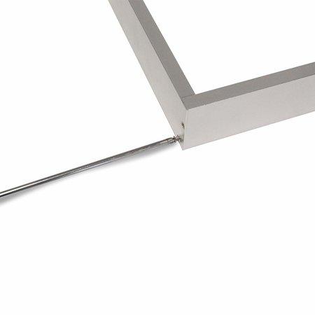 Decken Aufbaurahmen 120x30cm - Aluminium Silber - für LED Panel - inkl. Befestigungsmaterial