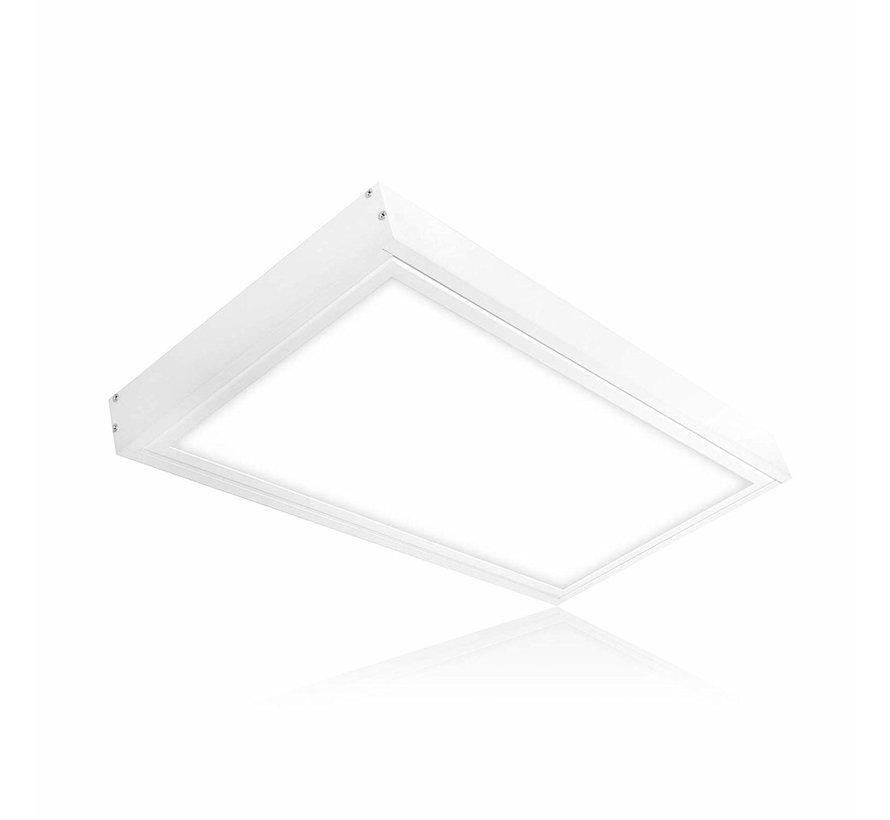 Decken Aufbaurahmen 60x30cm - Weiß - für LED Panel - inkl. Befestigungsmaterial